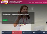 Hotsite Nair Portela Reitora